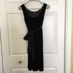 GAP - Black Velvet Dress w/Satin Bow